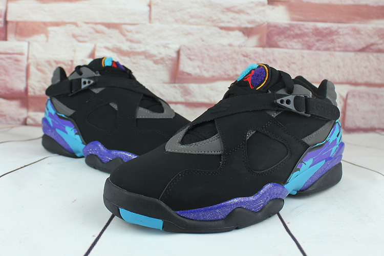 2016 Air Jordan 8 Low Black Purple Shoes