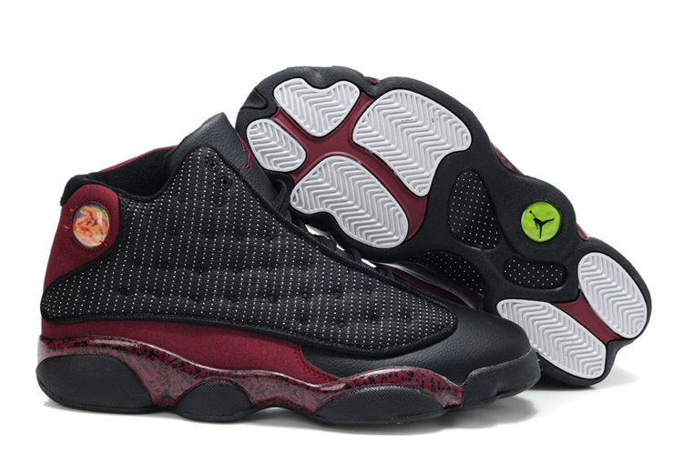 New Arrival Air Jordan Retro 13 White Wine Red Shoes