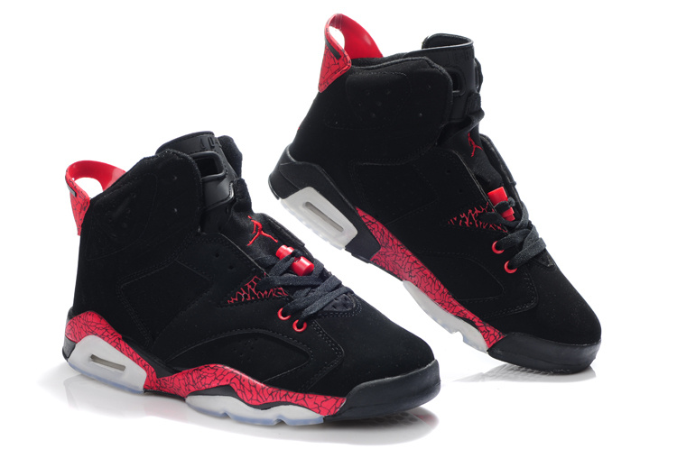 air jordan 6 black and red