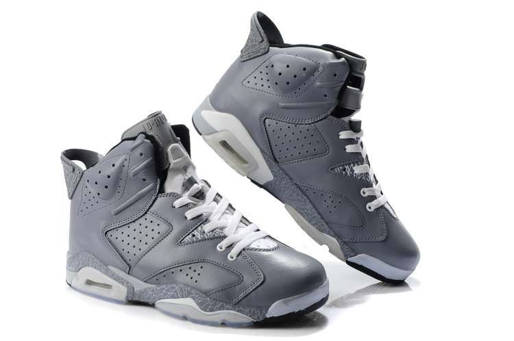 Latest Air Jordan Retro 6 Grey White Shoes