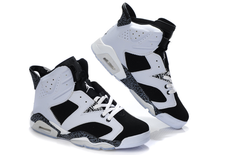 Latest Air Jordan Retro 6 White Black Cement Shoes