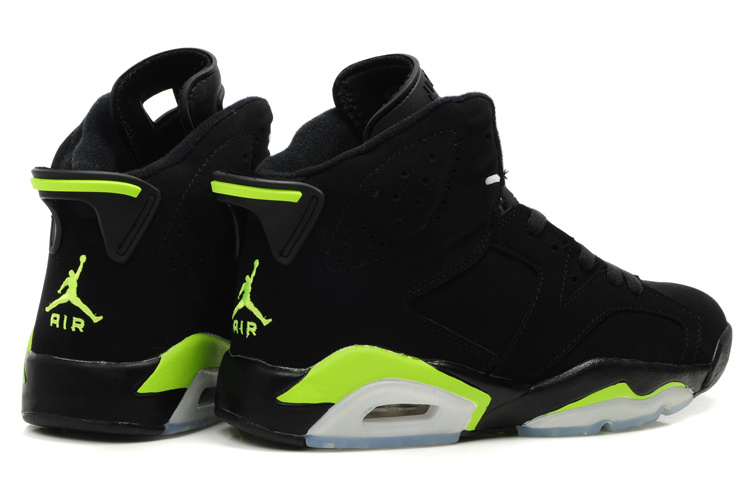 Latest Air Jordan Retro 6 White Black Green Shoes
