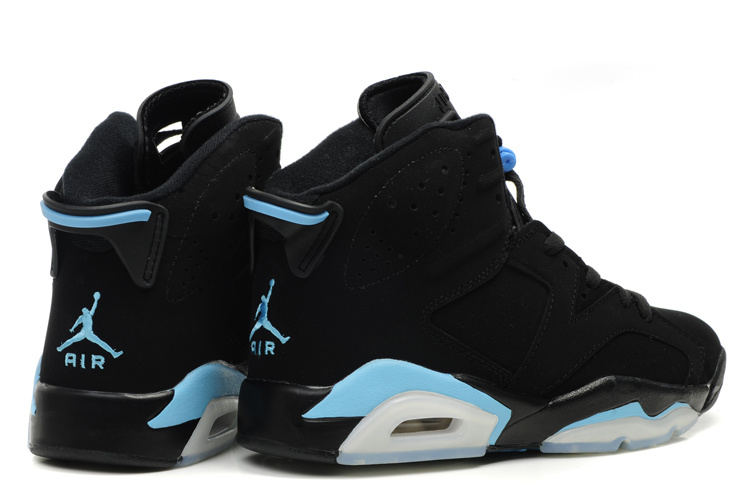 Latest Air Jordan Retro 6 White Black Light Blue Shoes