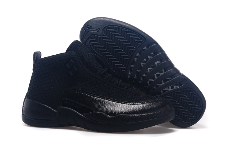 All Black Jordan 12 Future Shoes