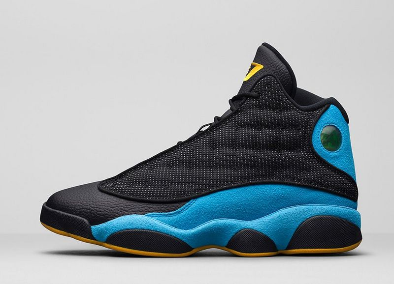 Air Jordan 13 Retro Black Blue Yellow Shoes