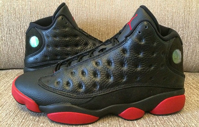 New Jordan 13 Retro Black Wine Red Shoes