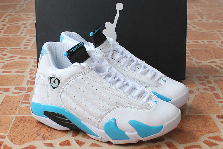 Air Jordan 14 Retro White Baby Blue Shoes