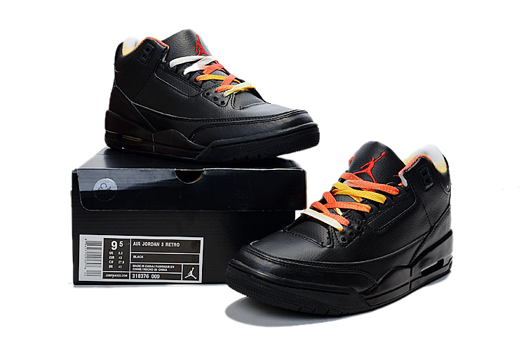 2015 Air Jordan 3 Retro Black Colorful Shoes