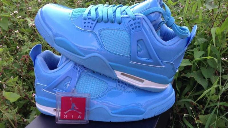 2015 Air Jordan 4 Retro All Blue Shoes