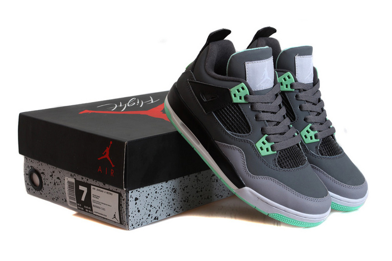 New Jordan 4 Retro Green Glow Shoes