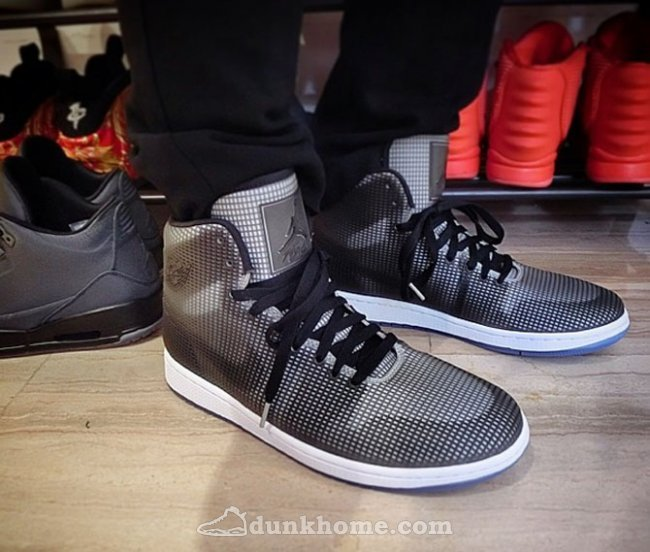 2015 Air Jordan 4LAB1 Black Grey Shoes