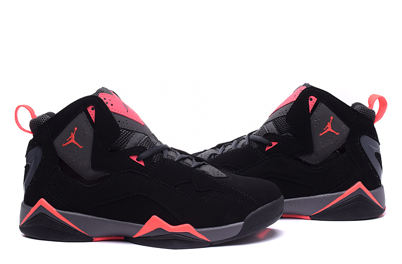 2015 Air Jordan 7 Shoes Black Red For Women