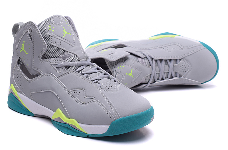 2015 Air Jordan 7 Shoes Grey Green For Women