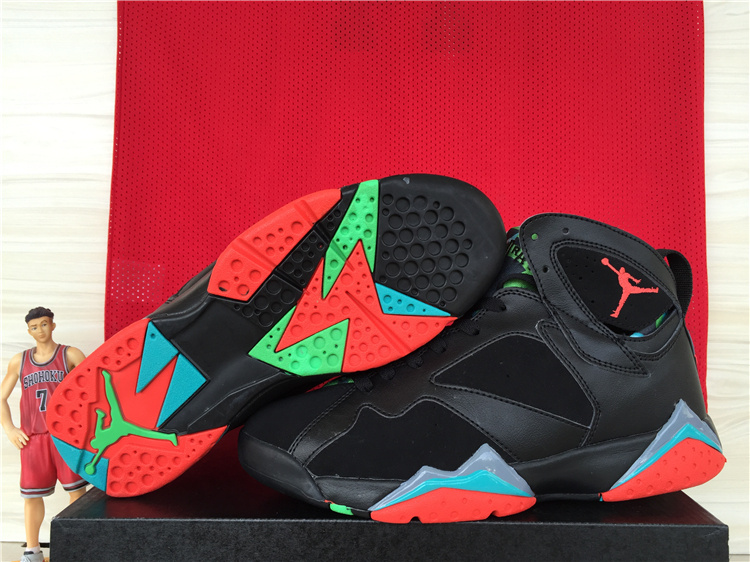 Lowest Price Nike Air Jordan 7 Cheap sale Black University Red P