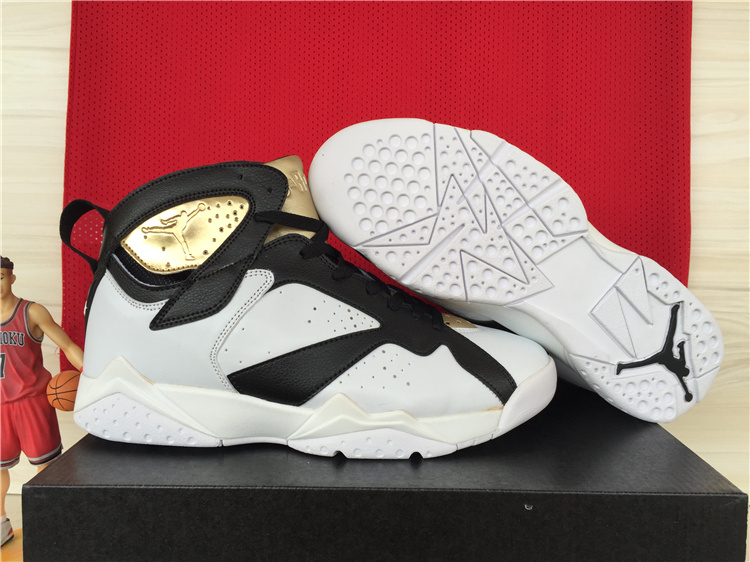 2015 Air Jordan 7 Retro White Black Gold