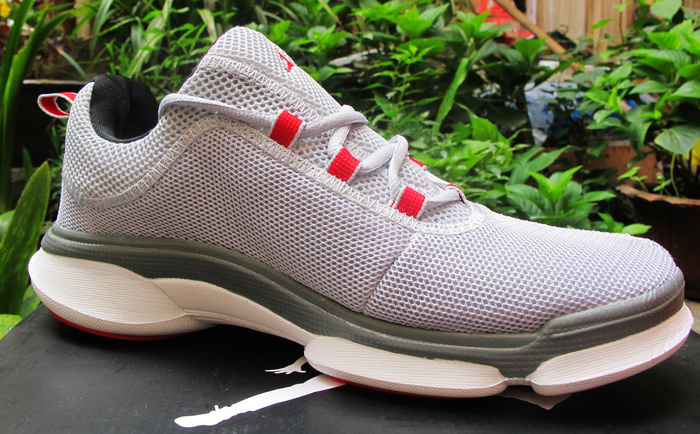 New Air Jordan Running Shoes Grey Red White