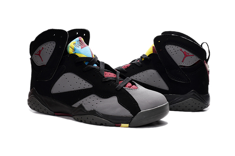 2015 New Air Jordan 7 Shoes Grey Black Red