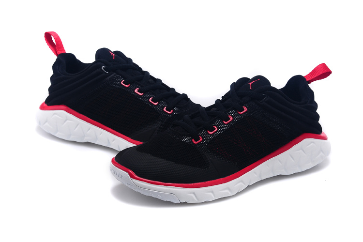2015 Women Air Jordan Running Shoes Black Red White