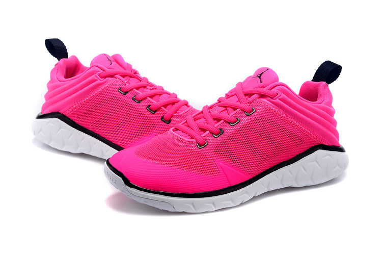 2015 Women Air Jordan Running Shoes Pink Black White