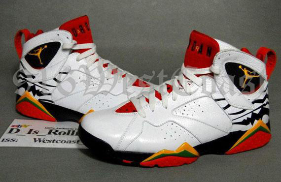 New Air Jordan 7 White Red Black Shoes For Sale