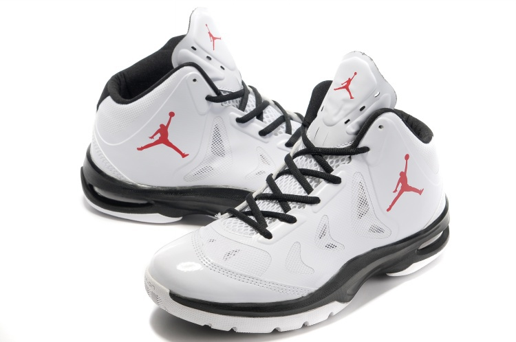 Nike Jordan Play In These White Black Red Logo Basketball Shoes
