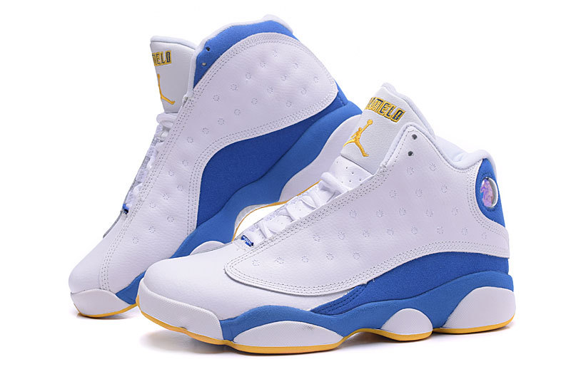 Nugget Air Jordan 13 Anthony Shoes White Blue Yellow