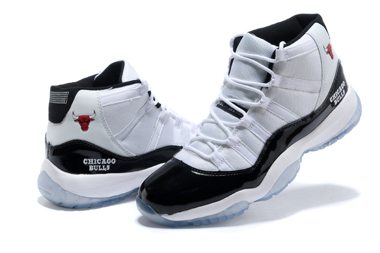Original Air Jordan 11 White Black Shoes