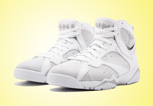 Pure Money Air Jordan 7 White Metallic Silver-Pure Platinum