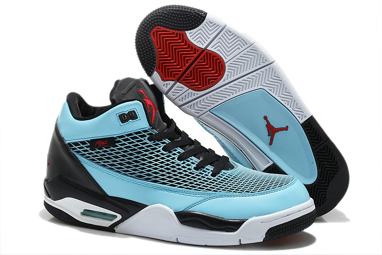 Air Jordan Flight Club 80S Blue Black White Shoes