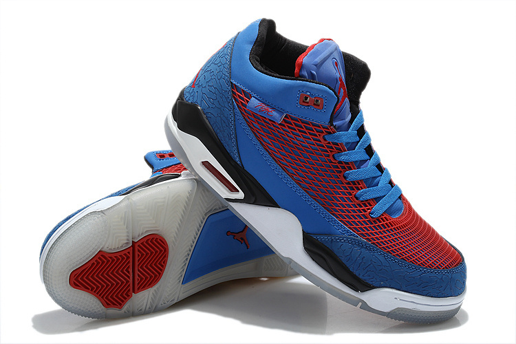 Air Jordan Flight Club 80S Blue Red White Shoes