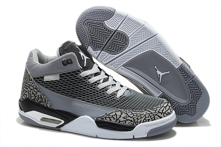 Air Jordan Flight Club 80S Grey Black White Shoes