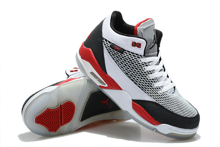 Air Jordan Flight Club 80S White Grey Black Red Shoes