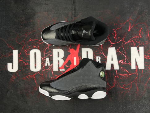 Women Air Jordan 13 Black Anthracite-Hyper Pink Shoes