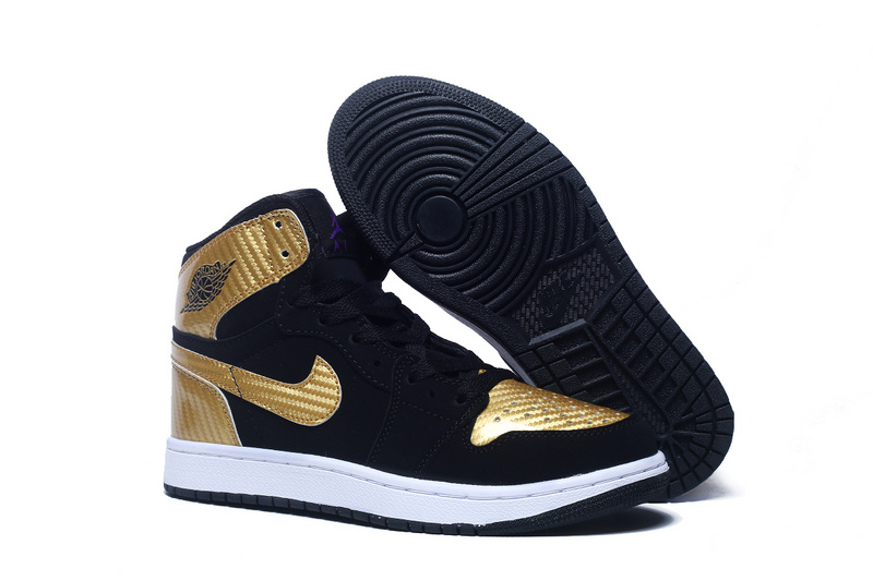 New Women Air Jordan 1 Retro Black Copper Shoes