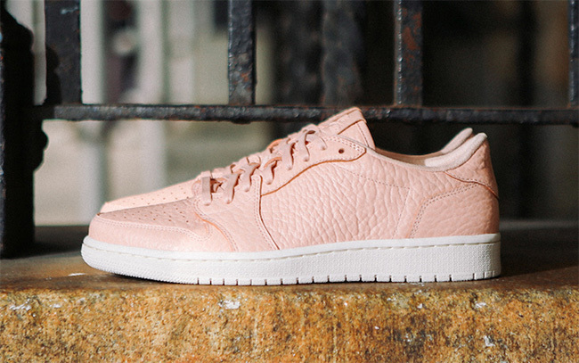 2016 Air Jordan 1 Low No Swoosh Pink White Shoes For Women