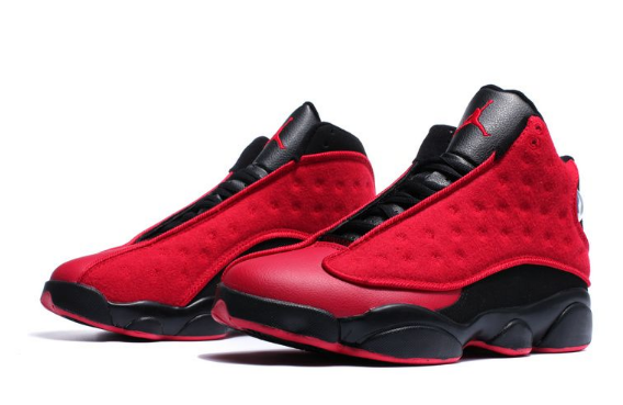 air jordan 13 retro singles day red black