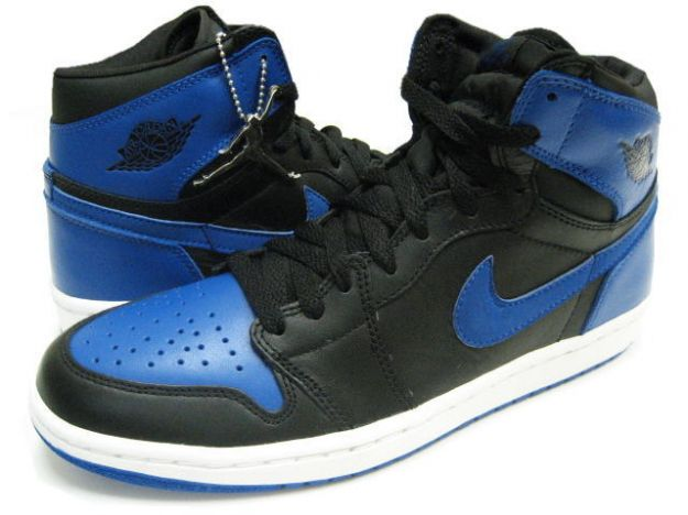 Claasic Air Jordan 1 Black Royal Blue White Shoes