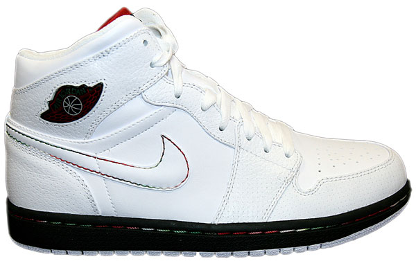 Authentic Air Jordan 1 Retro White Black Classic Green Varsity Red Shoes