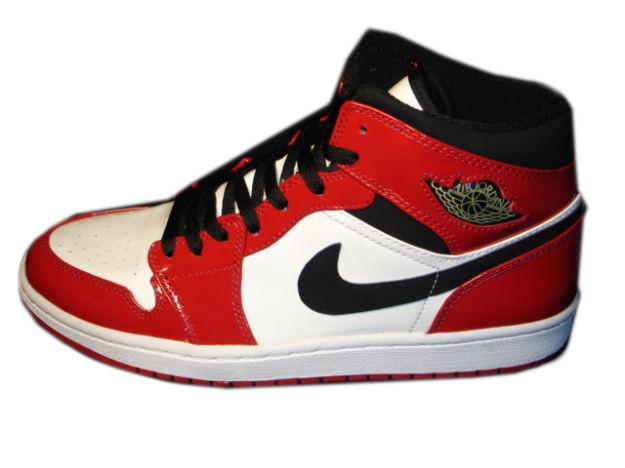Authentic Air Jordan 1 Retro White Black Red Shoes