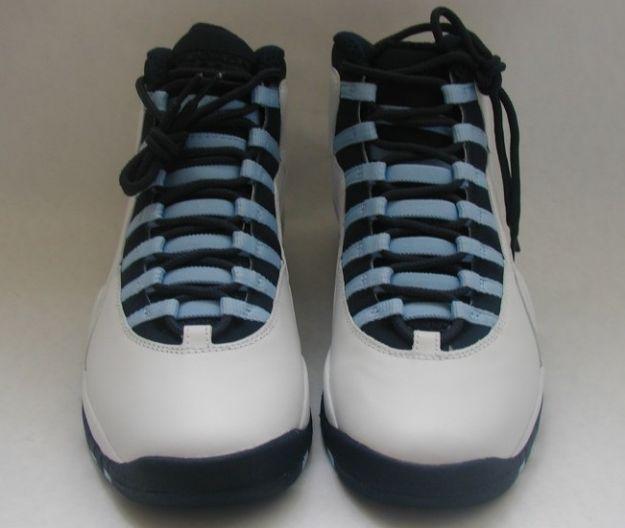 air jordan 10 retro ice blue white obsidian ice blue varsity red shoes