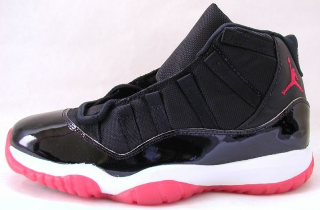 popular air jordan 11 original black true red white shoes shoes