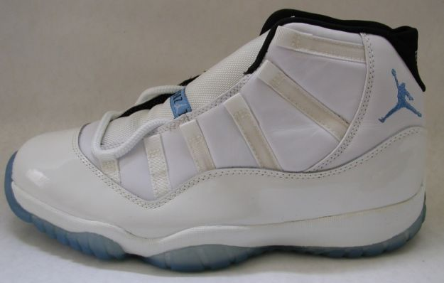 classic air jordan 11 original columbia white blue black shoes