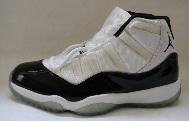 classic air jordan 11 original concord white black dark shoes