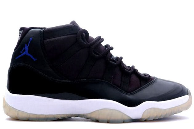 classic air jordan 11 retro space jams black varsity royal white shoes