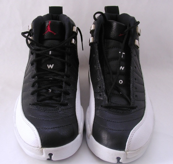 classic air jordan 12 original playoffs black varsity red white metallic silver shoes
