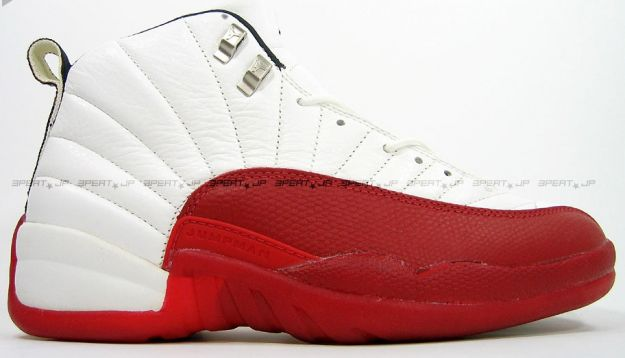 classic air jordan 12 original white varsity red shoes