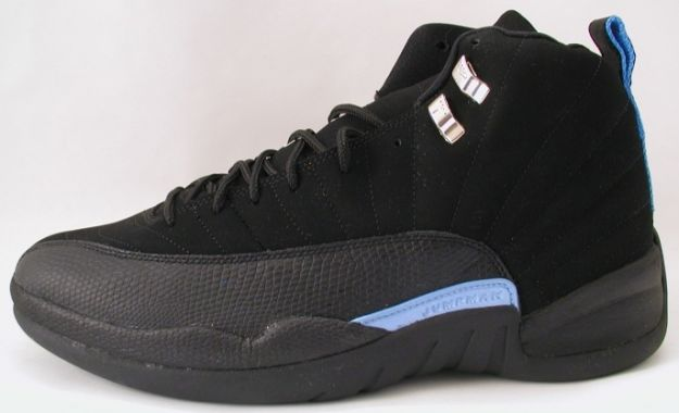 popular air jordan 12 retro nubucks unc black university blue shoes