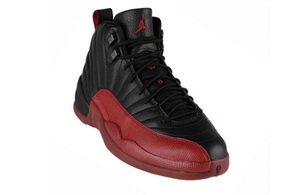 authentic classic air jordan 12 retro playoffs black varsity red shoes