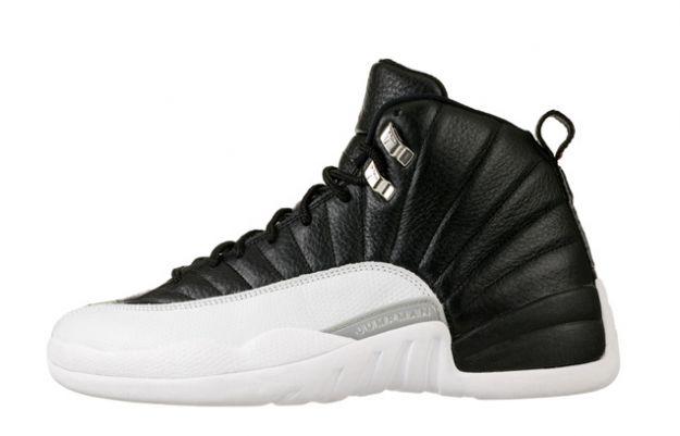 popular air jordan 12 retro playoffs black white shoes