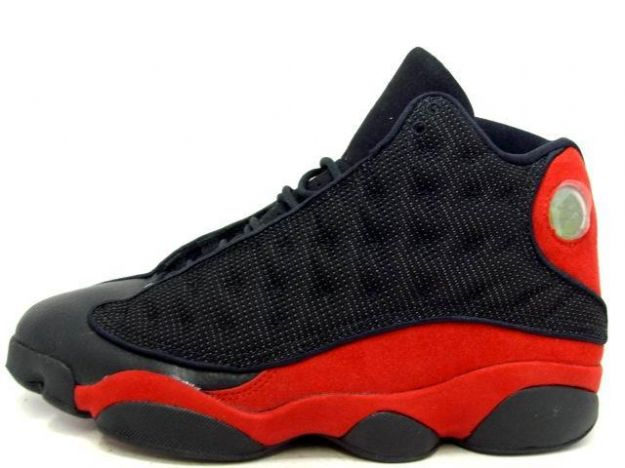 classic air jordan 13 original black varsity red shoes